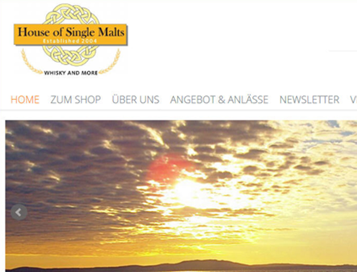 House of Single Malts: Webshop